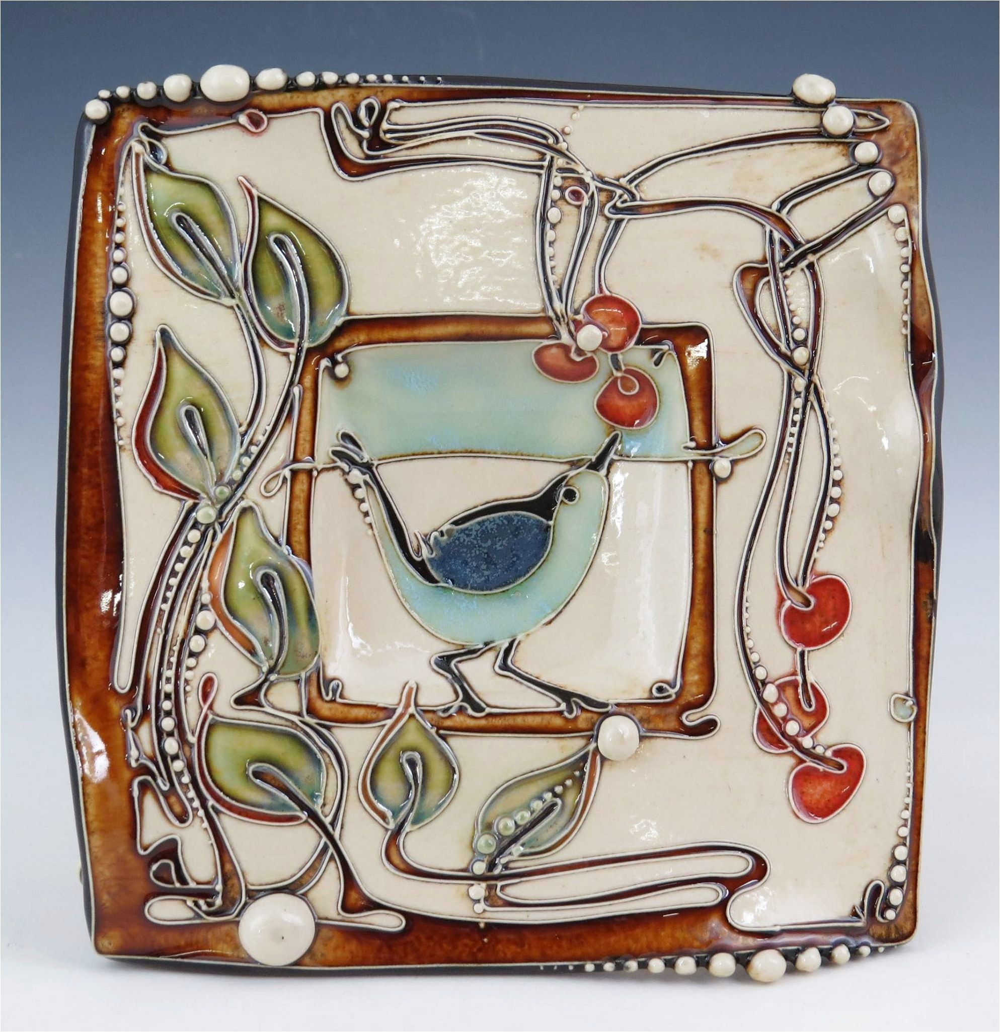 Potteryandceramics If You Admire This Image And Want To See More Click For Link Tile Art Art Deco Tiles Ceramic Artwork
