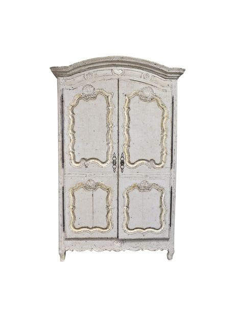 18th Century French Provincial Louis XV Style Armoire