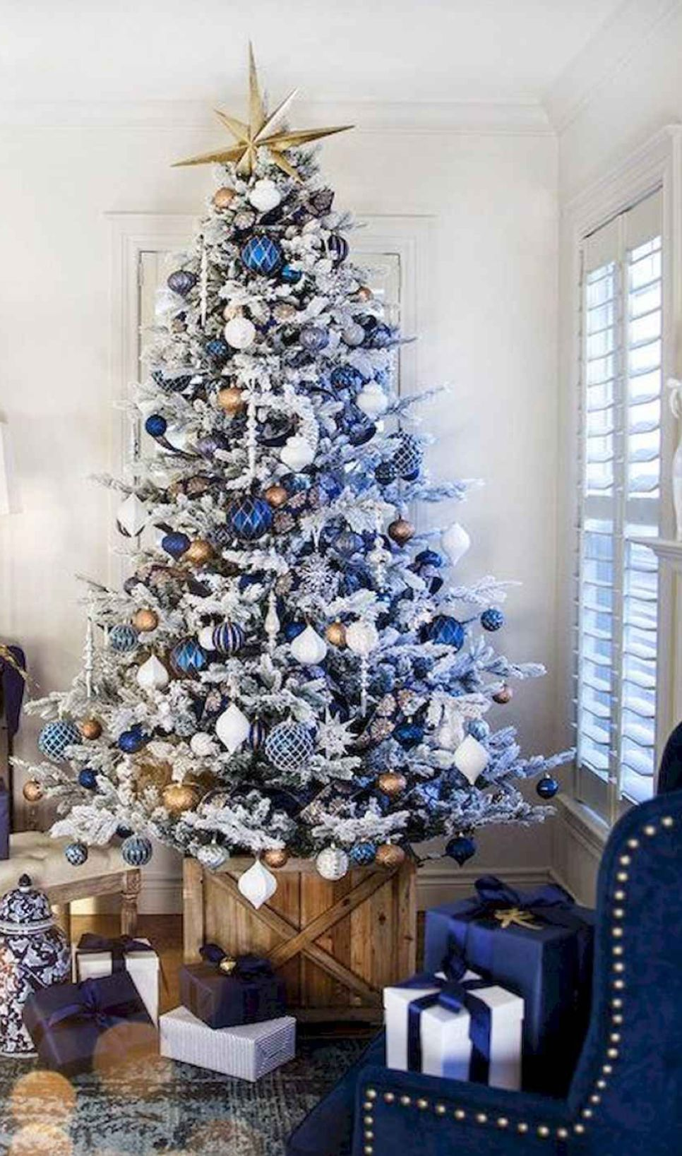 50 Blue Christmas Decor Ideas That Speaks of Style and