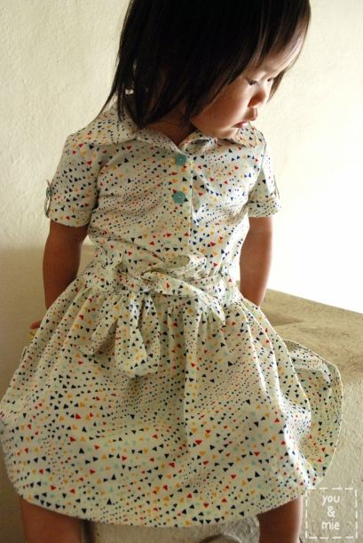 oliver + s jump rope dress in leah duncan for anthology fabrics Maya line x