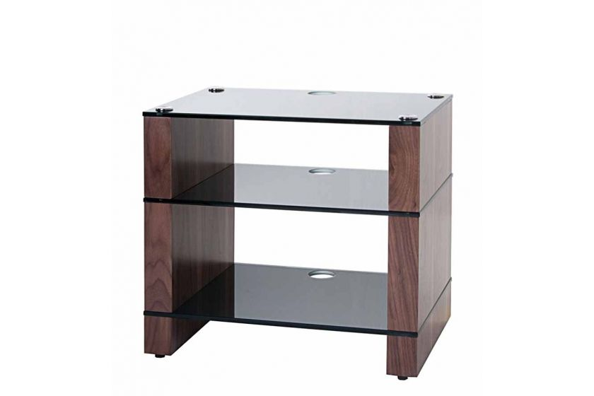 stax 300 three shelf hi fi stand natural walnut with black glass racks hi fi pinterest. Black Bedroom Furniture Sets. Home Design Ideas