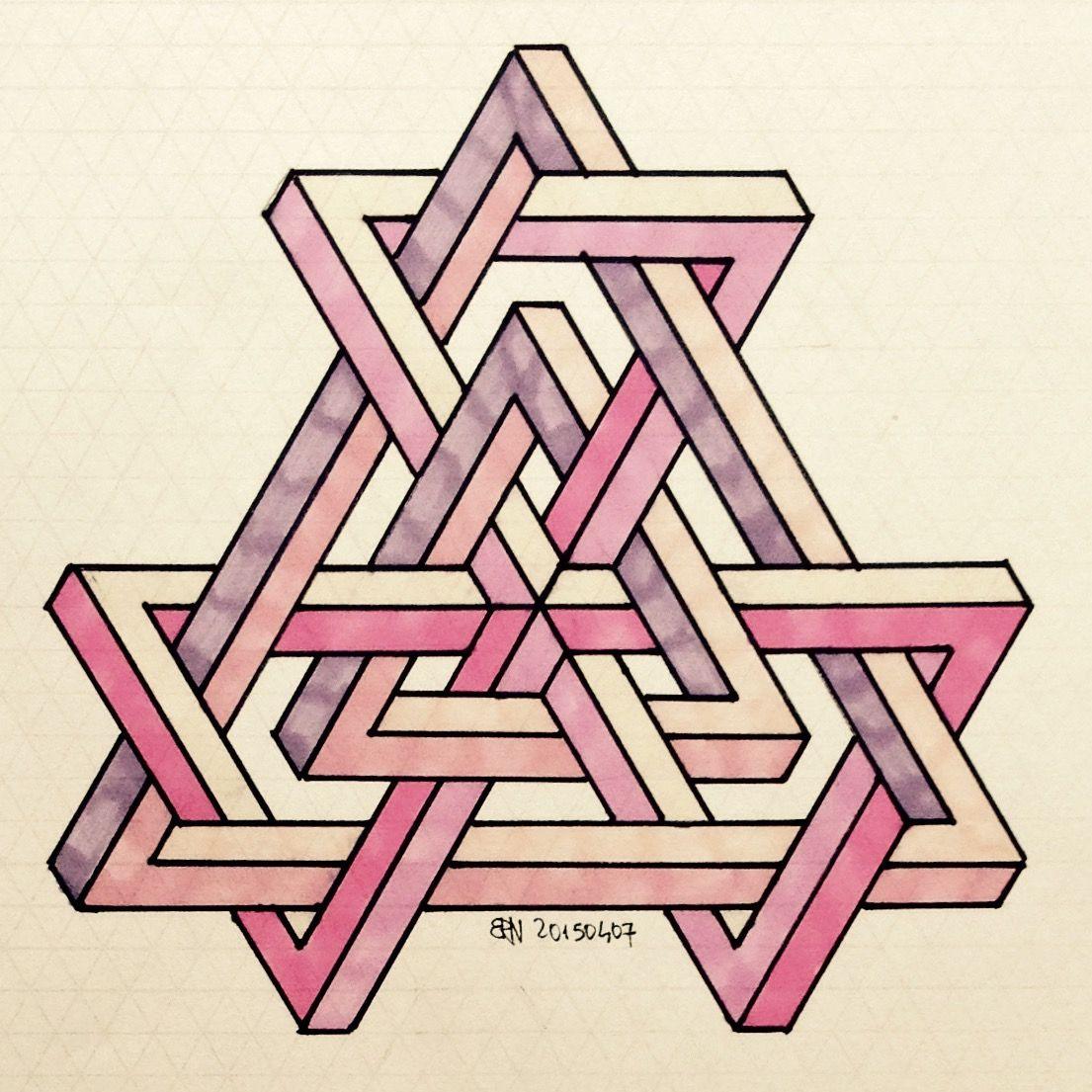Impossible Isometric Penrosetriangle Oscar Reutersward