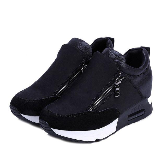 Photo of Platform Shoes Woman Sneakers Women Casual Side Zipper Air C…
