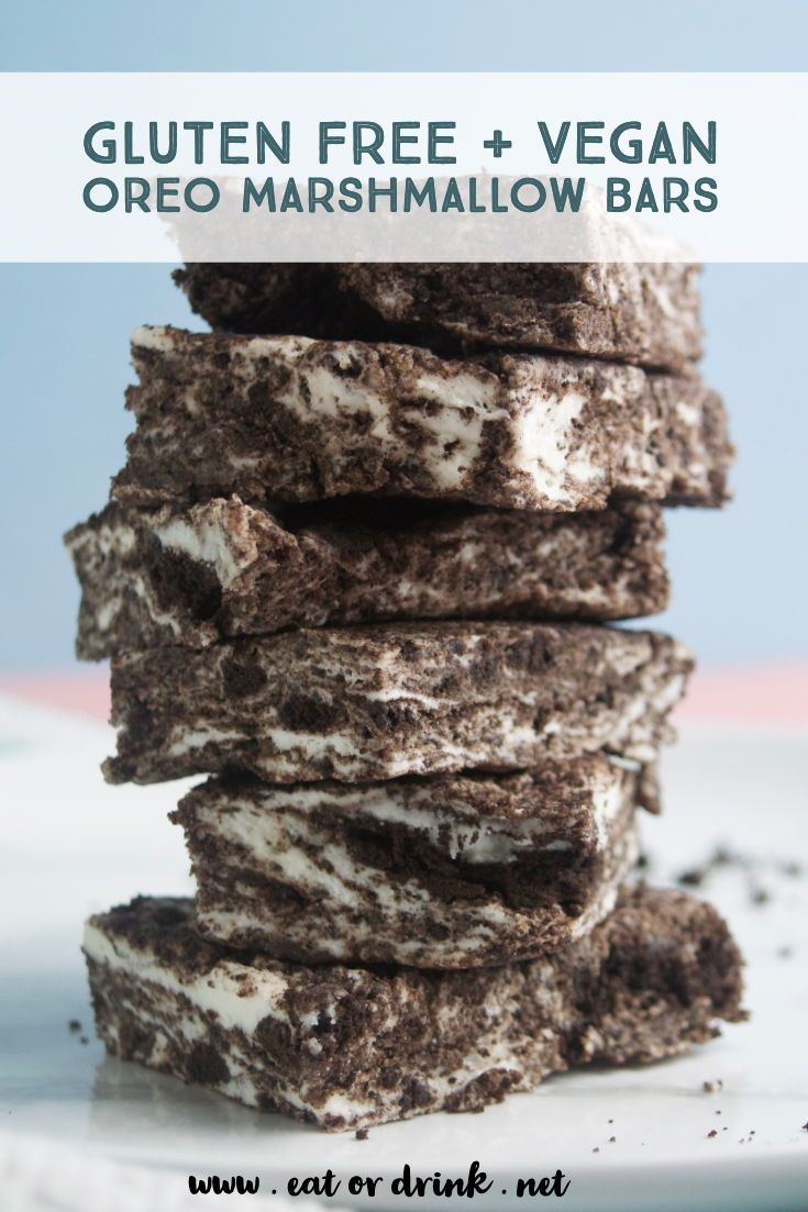 Oreo Marshmallow Bars • Eat or Drink