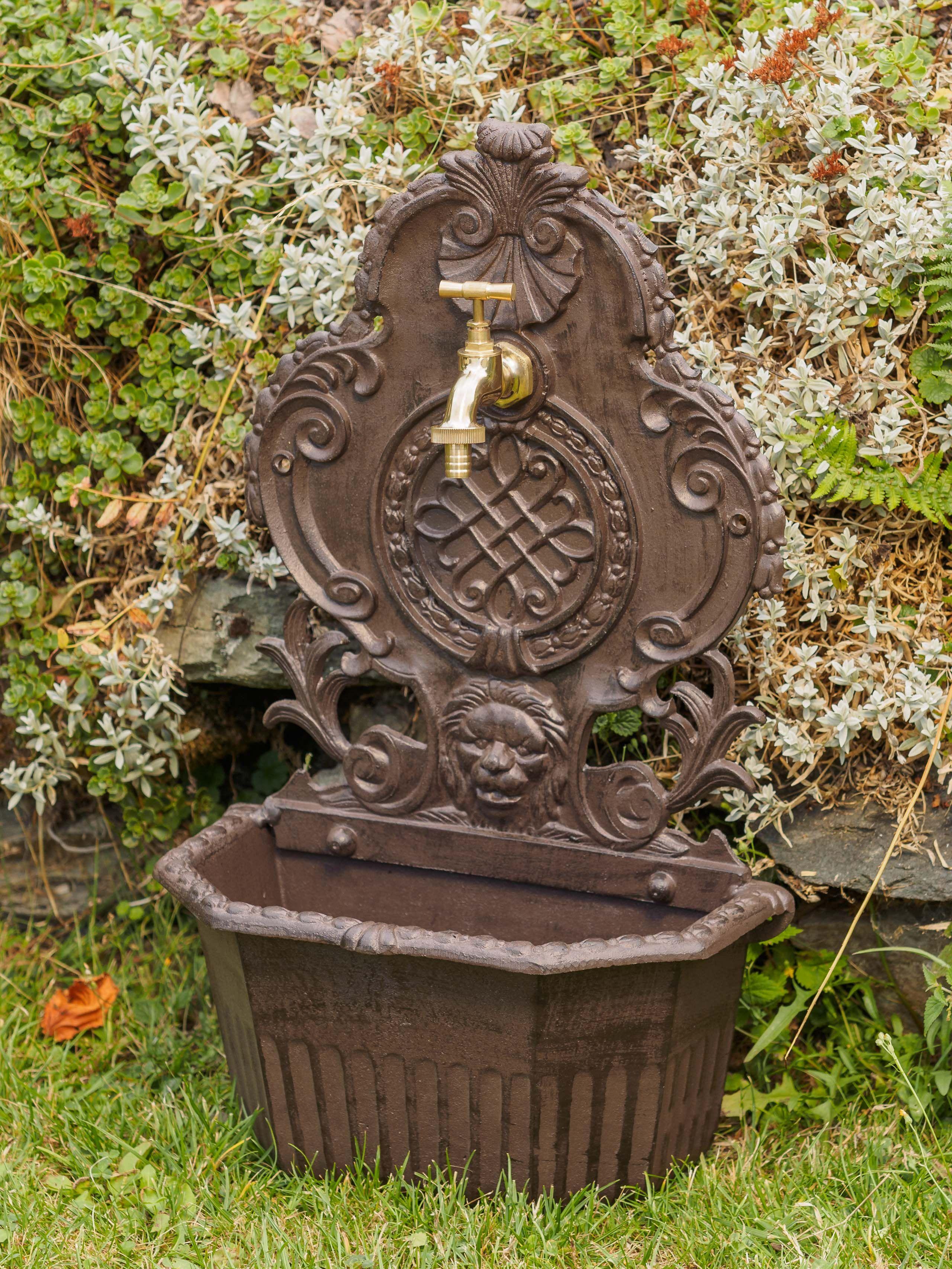 Waschbecken Brunnen Standbrunnen 59cm Alu Lowe Garten Nostalgie Stil Fountain Wandbrunnen Brunnen Waschbecken