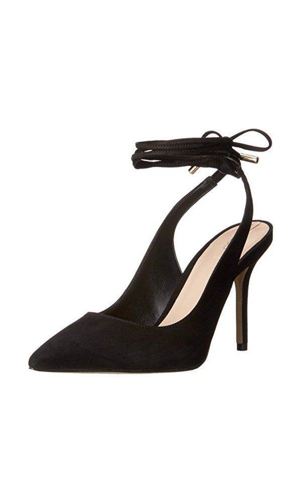 edcb62d82b 100$ - Aldo Women s Kalala dress Pump- Black NUBUCK- 7.5 B US from Aldo-  Ladies high heel sling back single sole pump with wrap laced.