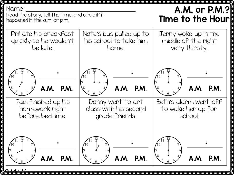 telling time and determining a m or p m math pinterest telling time math and worksheets. Black Bedroom Furniture Sets. Home Design Ideas