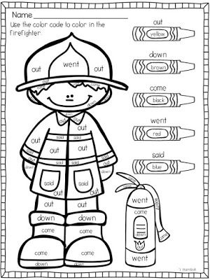 Fire safety rules coloring pages ~ Fire Safety | Classroom Ideas | Fire safety week, Fire ...