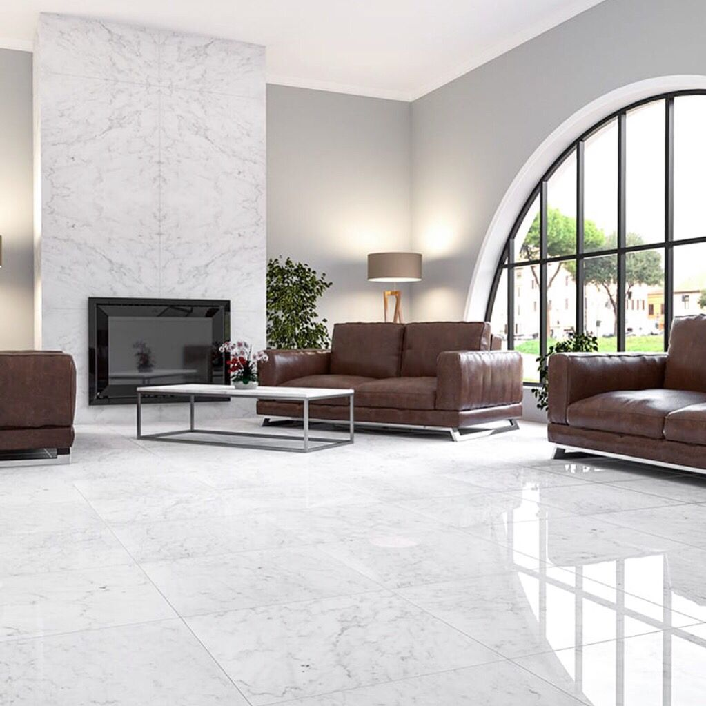 10 Most Popular White Tiles For Living Room