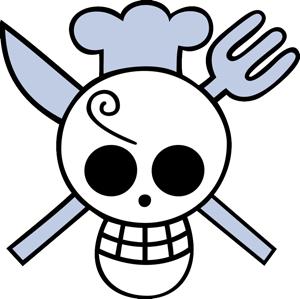 Sanji Flag Png 300 299 Sketsa Animasi Payung