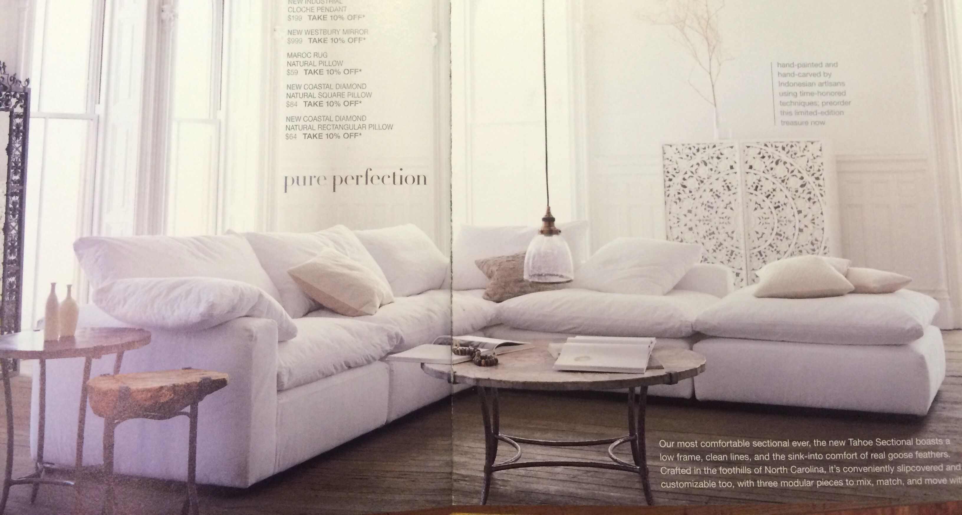 Arhaus Tahoe 5 Piece Sectional Ideas For The House