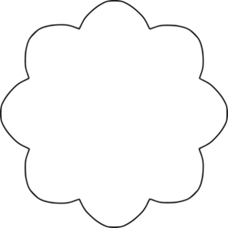 Clipart Flower Template - ClipartFest