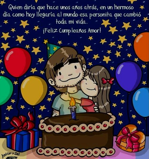 Happy Birthday Quotes For Boyfriend In Spanish: Pin By Älejandra Galindo П��💜🐥 On Azucar Y Sal