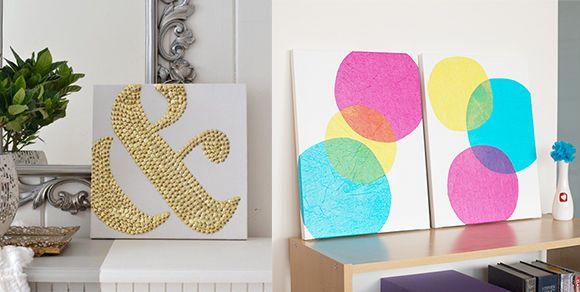 Einfache Kunst selbermachen geht so leicht mit diesen DIY Bastelideen #weckgläserdekorieren