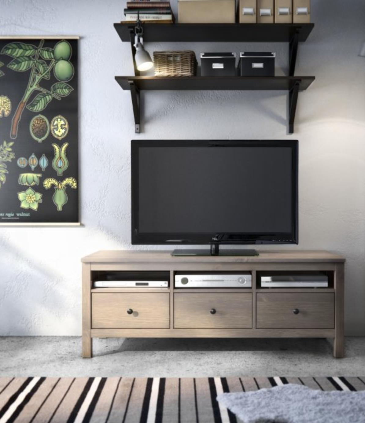 Garage Sale Find Ikea Hemnes Tv Bench In A Driftwood Finish