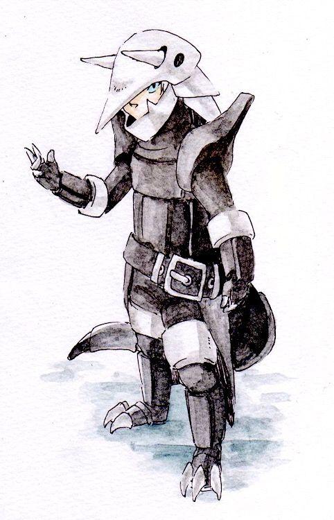 Aggron Gijinka | Pokemon art, Pokemon, Art