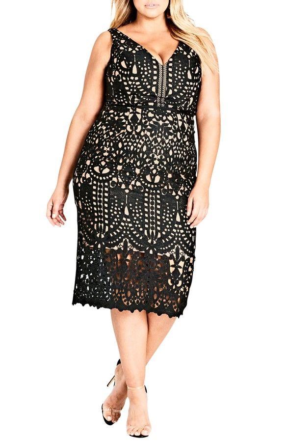 All Class Lace Sheath Dress
