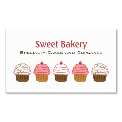 Bakery cupcake business cards business card template bakery bakery business cards reheart Image collections