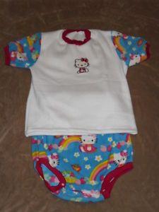 Adult Baby Fleece Hello Kitty Snap Diaper Cover Shirt Set with Custom Waist   3281fecc1