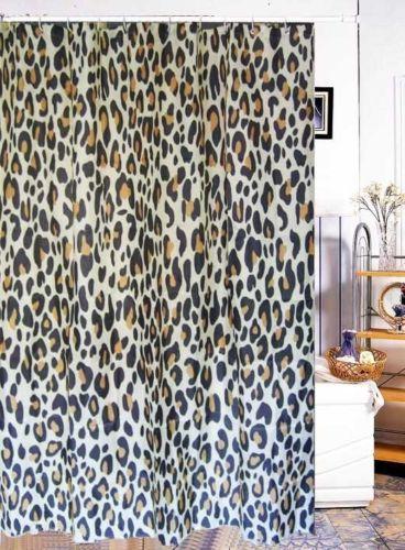 Leopard Shower Curtain Trendy Shower Curtain Curtains Unique