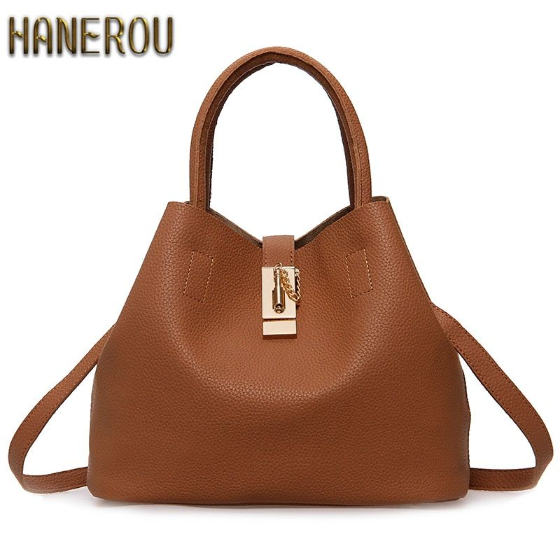 adfe91b25367  34.76 - Nice 2016 New Bags Handbag Women Fashion Autumn Shoulder Bag Designer  Handbags High Quality PU Leather Ladies Bucket Casual Tote Bag - Buy it Now!