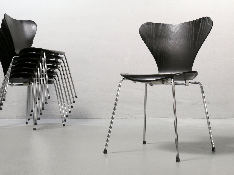 Arne Jacobsen Stühle arne jacobsen stuhl 3107 fritz hansen schwarz stapelstuhl stühle