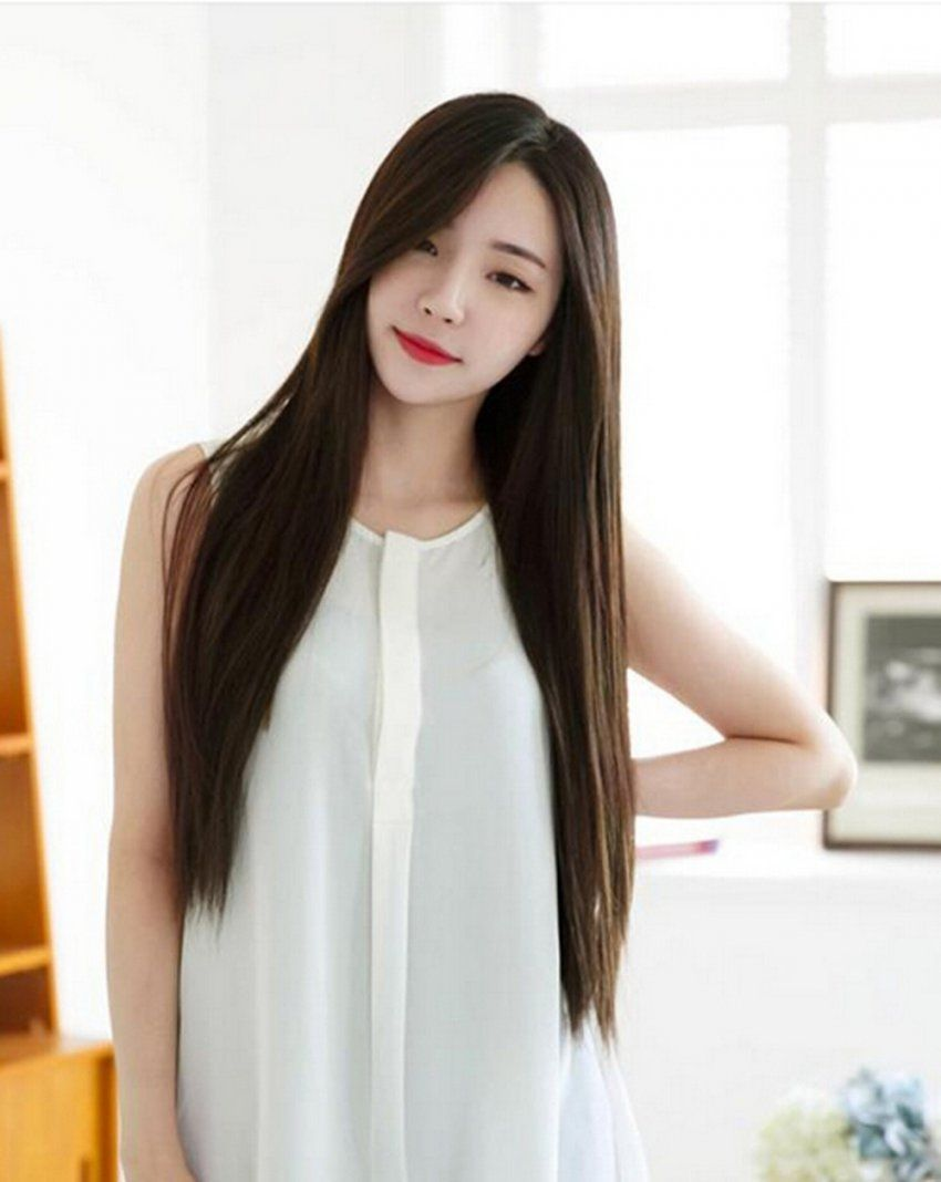 Korean Haircuts Female For 2018 2019 Long Layers With Bangs Bangs Square Measure An Excellent Selection Asian Long Hair Korean Hairstyle Long Korean Long Hair