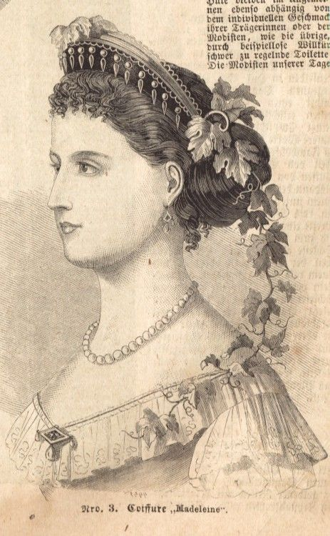 Historia Mody History Of Fashion Old Magazine Victoria 1866 Victorian Hats Victorian Hairstyles Historical Hairstyles