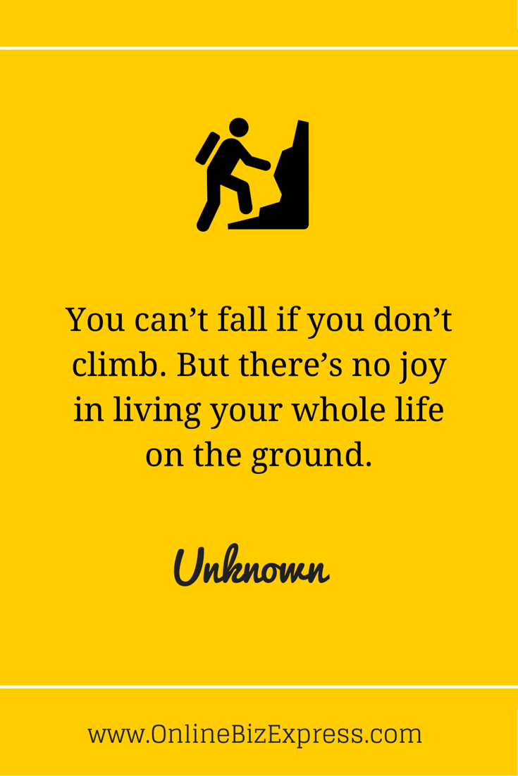 Whole Life Quotes Online You Can't Fall If You Don't Climbbut There's No Joy In Living
