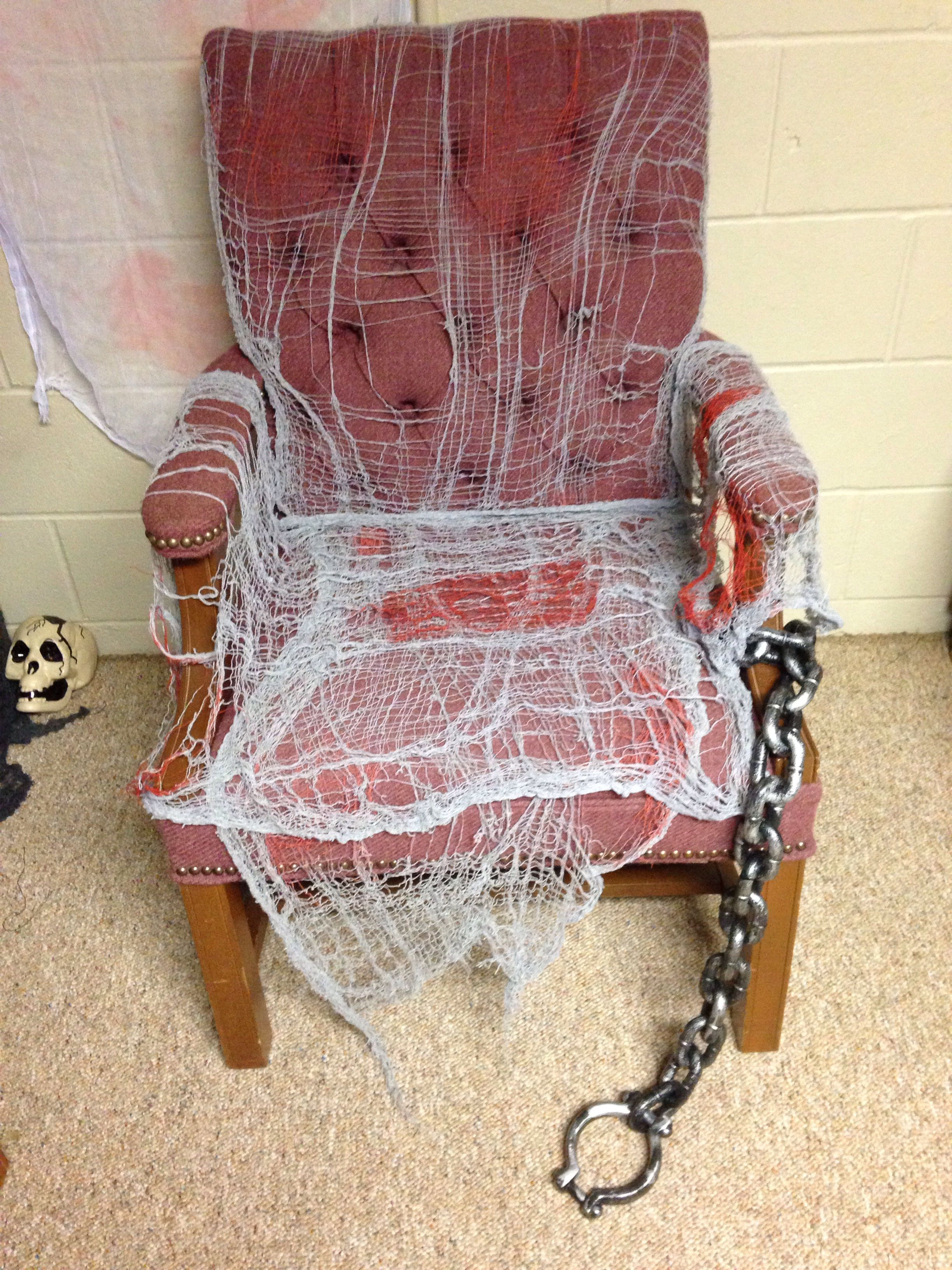 Insane Asylum Chairs Cloth From Dollar Tree And Chains Working With What I Have