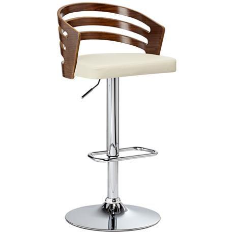 Adele Cream Faux Leather Adjustable Swivel Modern Bar Stool 8f143 Lamps Plus Modern Bar Stools Contemporary Bar Stools Bar Stools