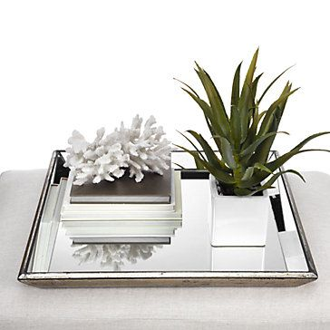 Pascual Mirrored Tray Mirror tray Trays and Foundation