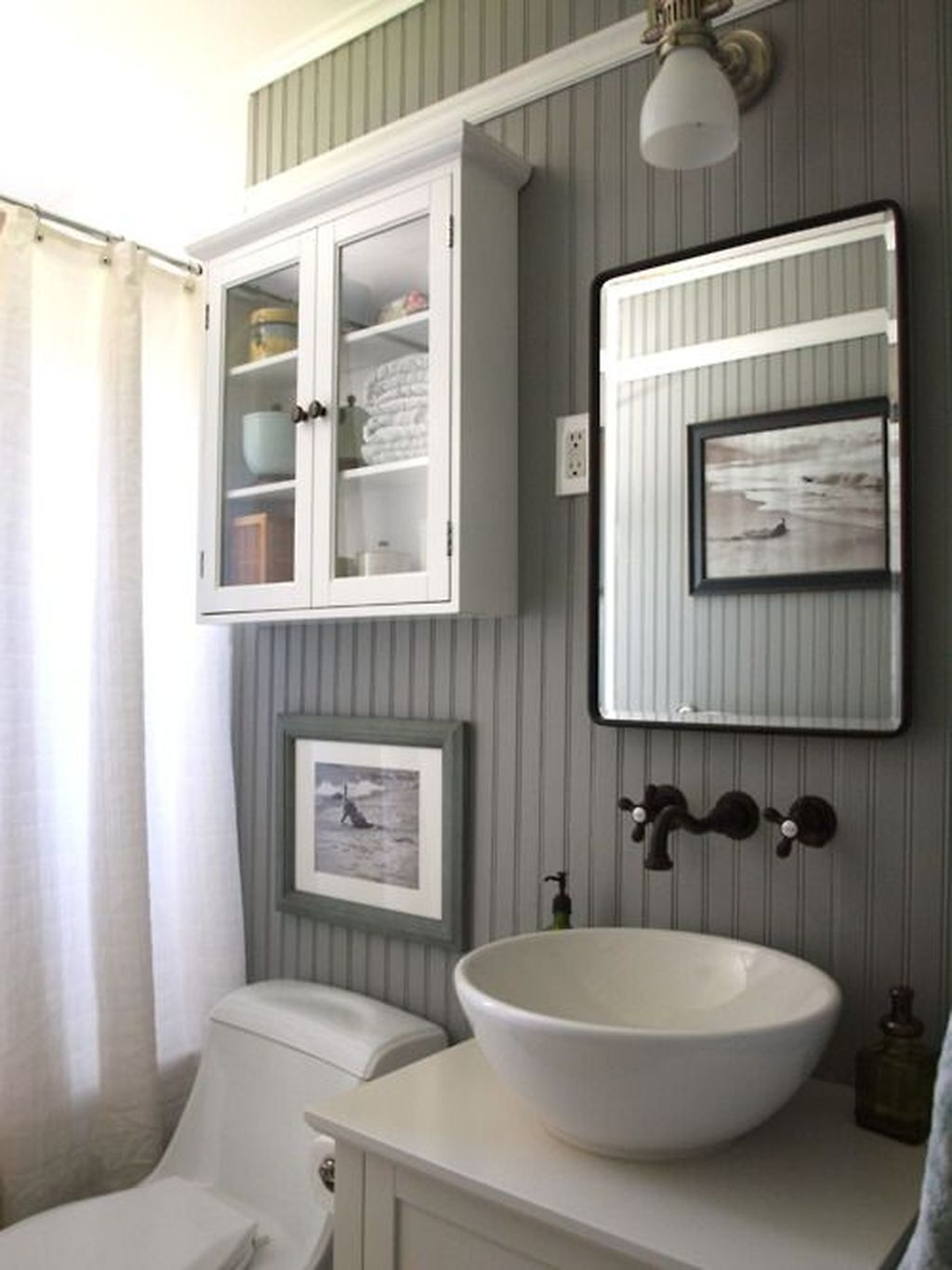 40 Nice Beadboard Designs For Your Bathrooms Beadboard Bathroom Bathrooms Remodel Small Bathroom