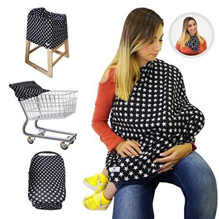Multi-use Covers for Shopping Cart Stroller Carseat -Infinity Nursing Cover Scarf Perfect Gift for New Moms Nursing Breastfeeding Covers and Car Seat Canopy for Baby Girls and Boys High Chair