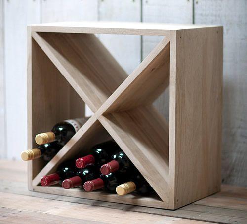 Solid Oak Stacking Cube Wine Rack Wine Rack Oak Wine