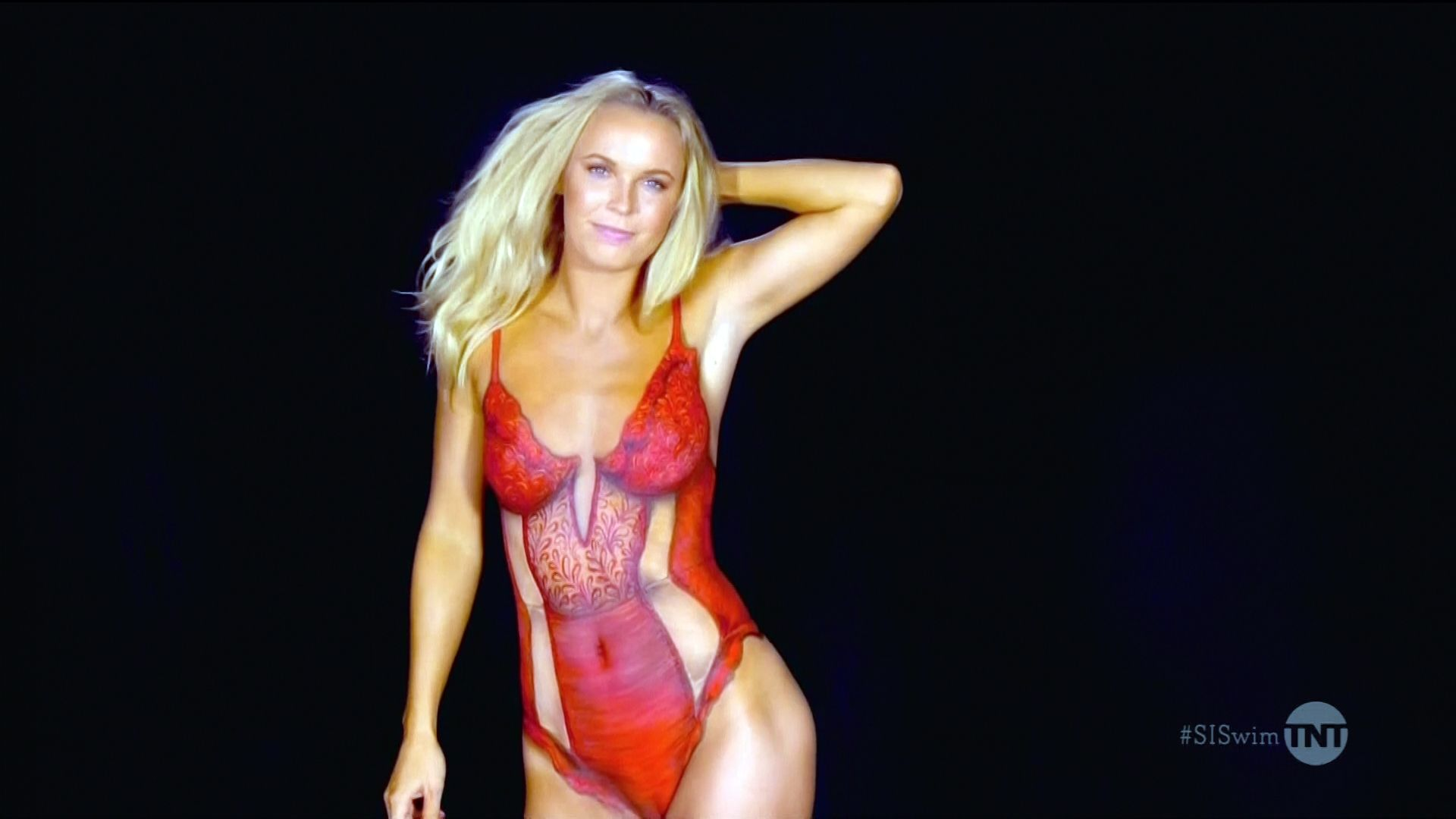 image Caroline wozniacki naked bodypaint