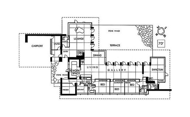 usonian house plans. adams_usonian_floorplans3 usonian house plans c