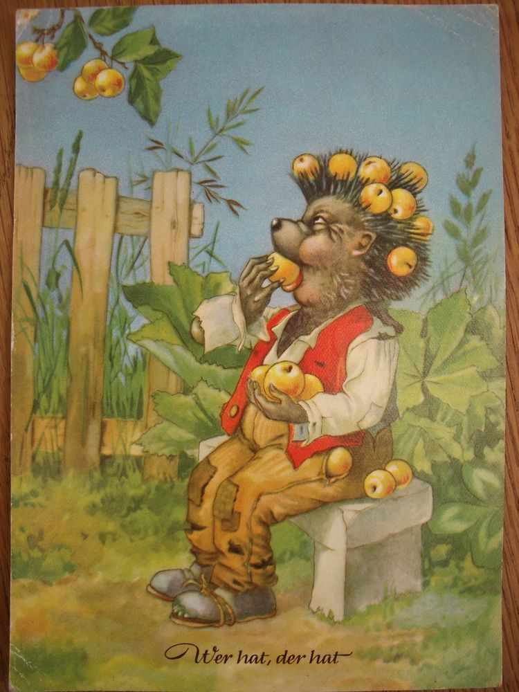 ALTE POSTKARTE GRUßKARTE IGEL MECKI 50er J., 1958, Stempel Stadt der Biere Marke in Sammeln & Seltenes, Ansichtskarten, Motive | eBay