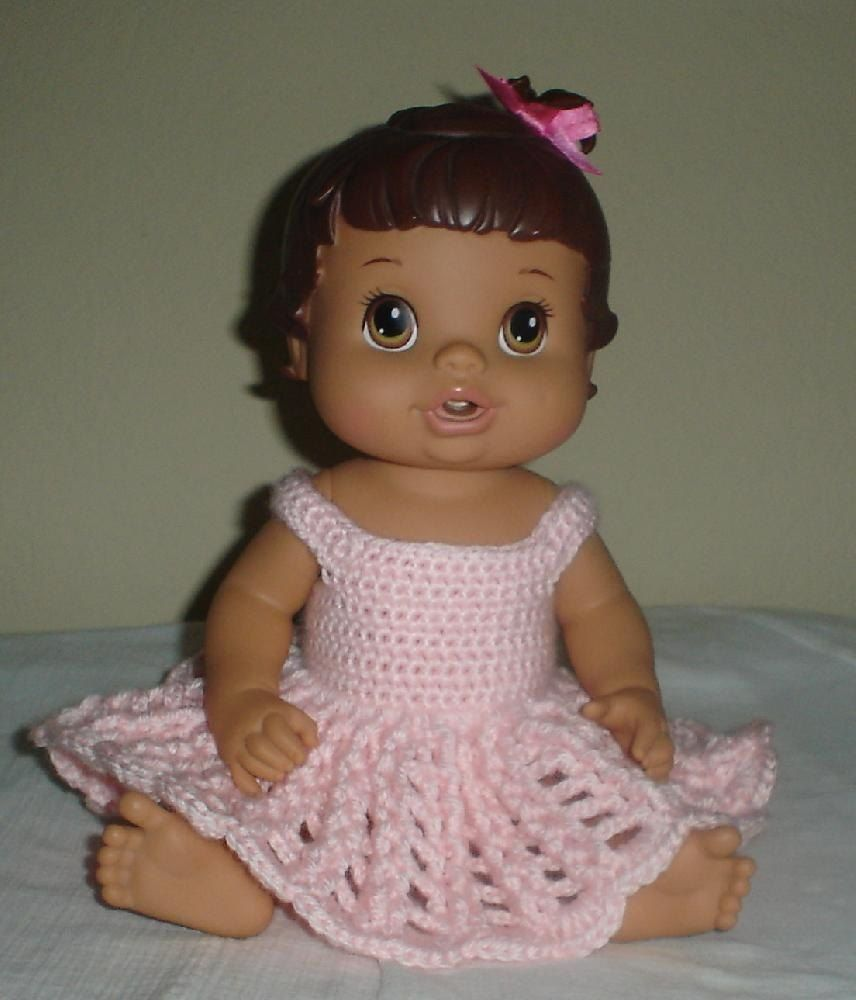 Pink dress baby  Baby Alive Pink Dress  Crochet  Pinterest  Baby alive Baby and