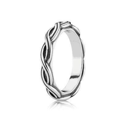 anello pandora foglie d'alloro