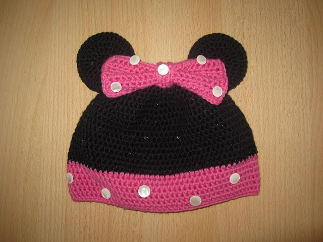 Minnie Maus Mütze häkeln #diy #crochet #hat #minniemouse ...
