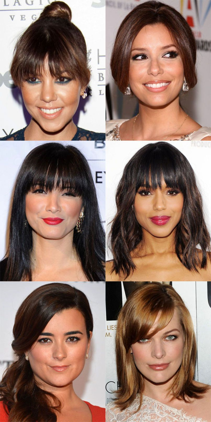 the best (and worst) bangs for heart-shaped faces | hair