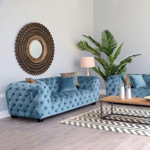 sofá chester terciopelo azul | Tiendas On | Catálogo muebles 2017 ...
