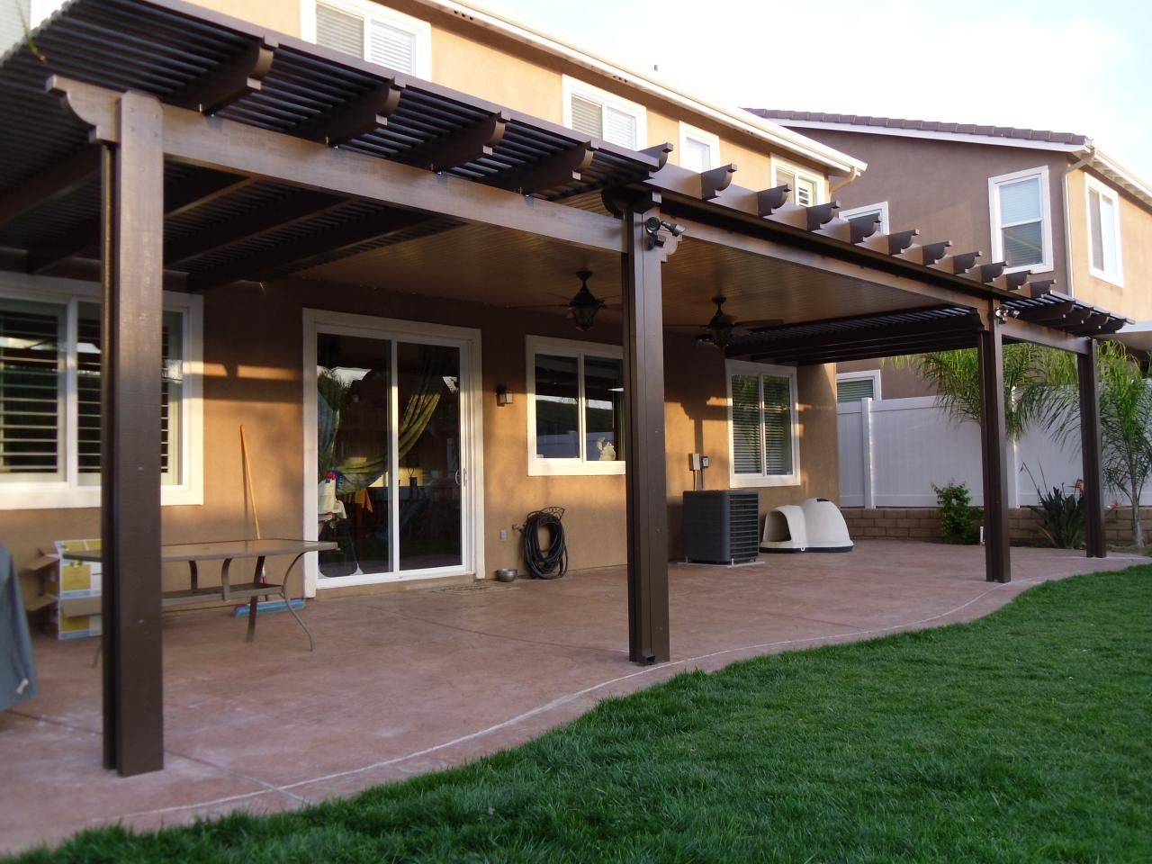 Combination Solid and Open Lattice Alumawood Patio Cover ...