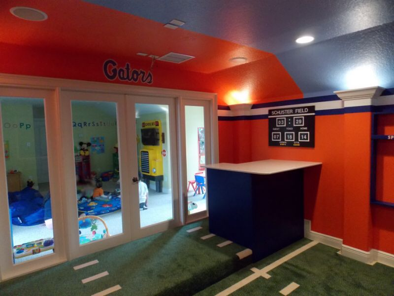 Florida Gators Home Theater. Designed By Build A Room.