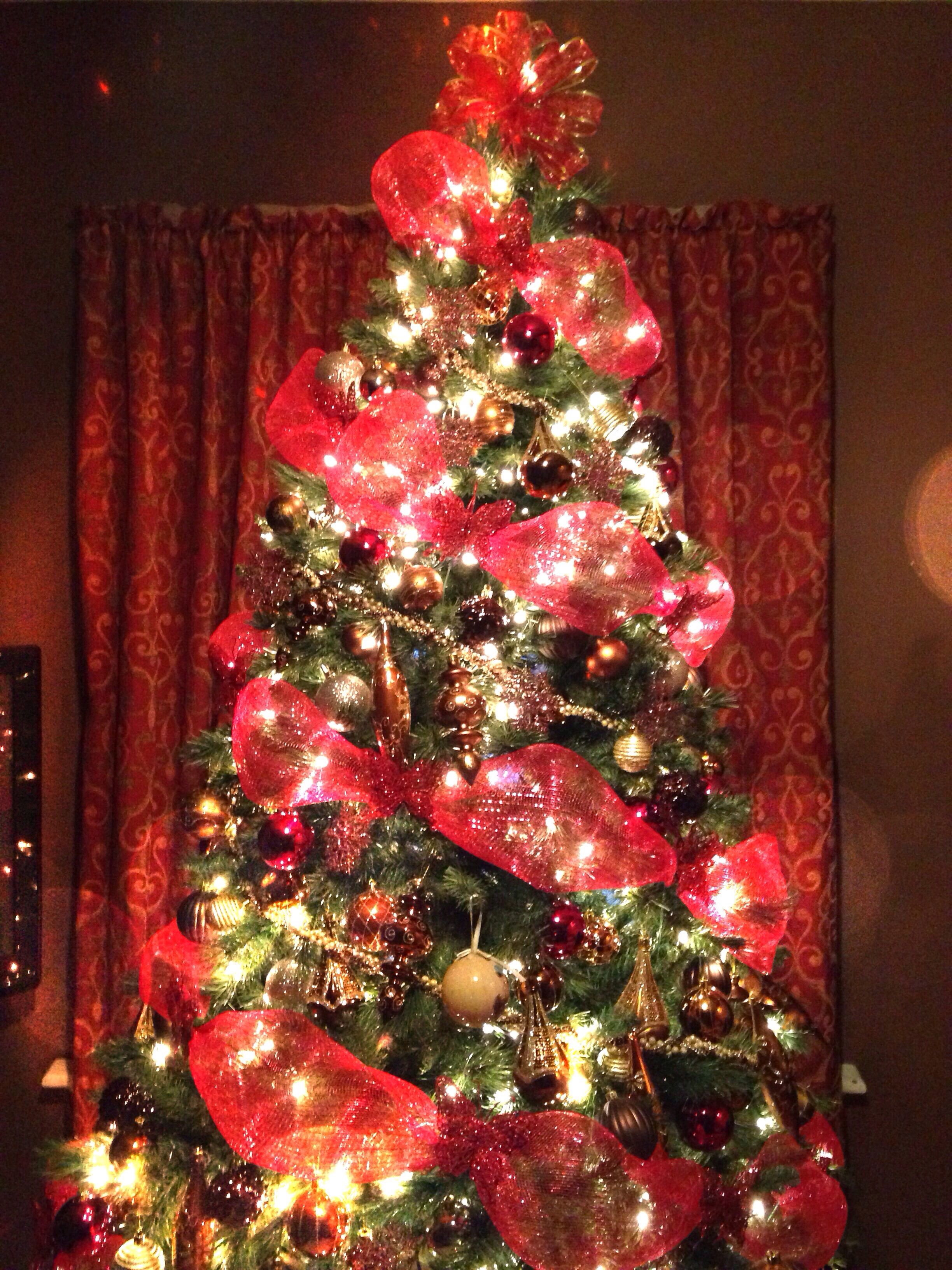 Red, Gold, Bronze, And Brown Christmas Tree!