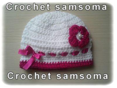 Crochet Hat Crochet Hat Free Crochet Pattern Headbands Crochet Crochet Hair Accessories كروشيه طاقية طاقية كروشيه بيبي Crochet Crochet Hats Baby Hats