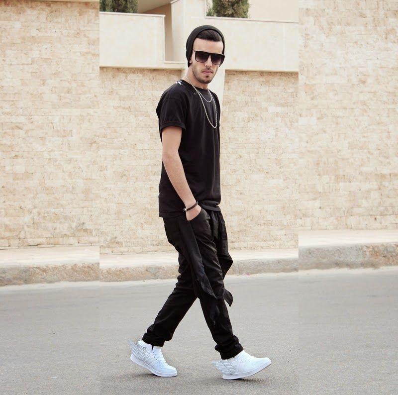 Men's Black Long Sleeve Shirt, Black