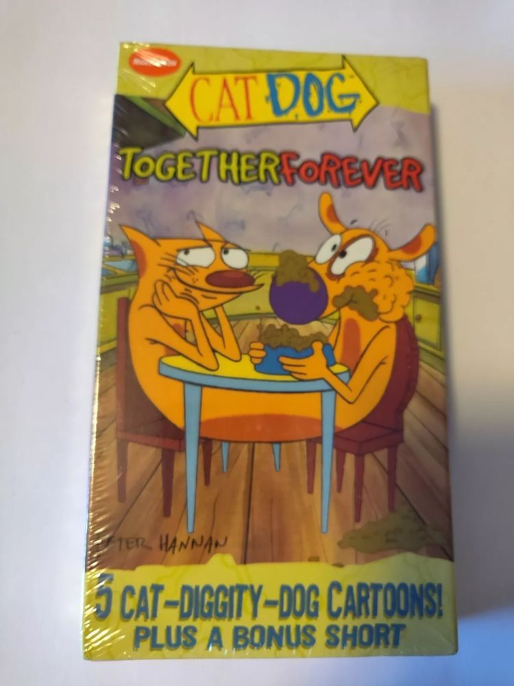 Cat Dog Together Forever VHS 1999 5 cartoons Nickelodeon NEW