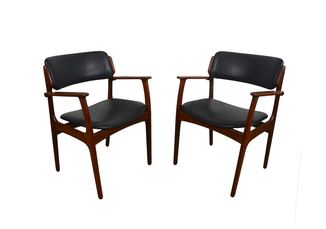 Teak Arm Chair Erik Buck Danish Modern OD Mobler Dining Chair